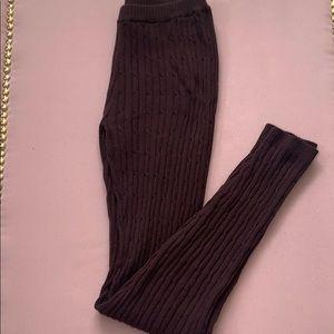 NWOT Kersh Brown Knitted Leggings